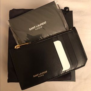 AUTHENTIC Saint Laurent Zipped Card Holder